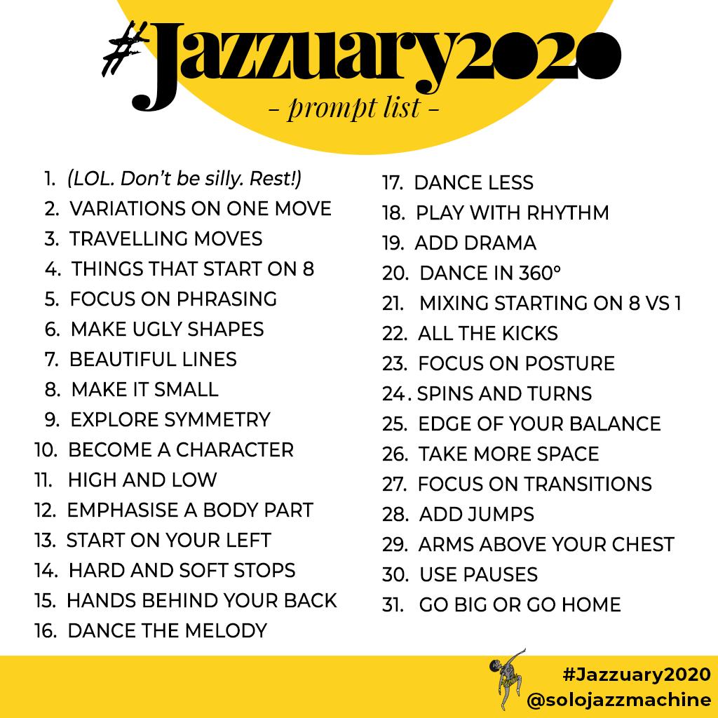 Jazzuary2020 prompt list